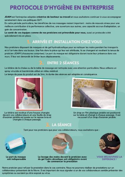Protocole hygiene en entreprise